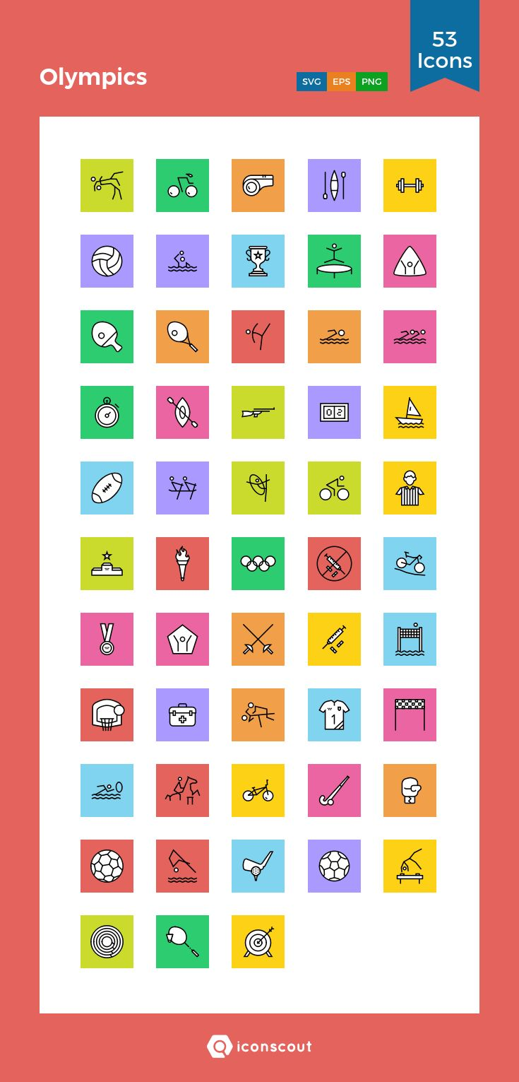 Olympics  Icon Pack - 53 Solid Icons