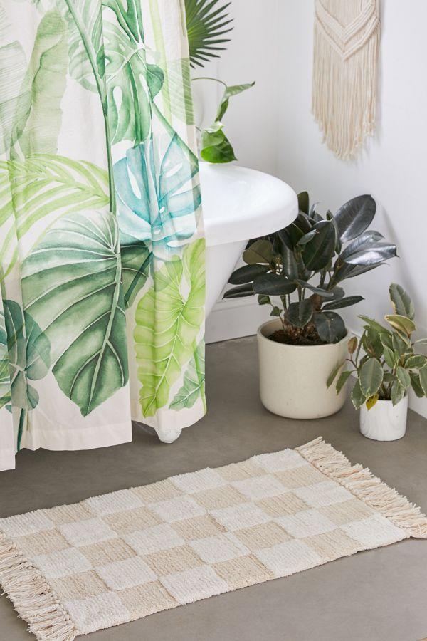 Checker Shag Bath Mat Shag Bath Mat Urban Outfitters Curtains Bath Mat