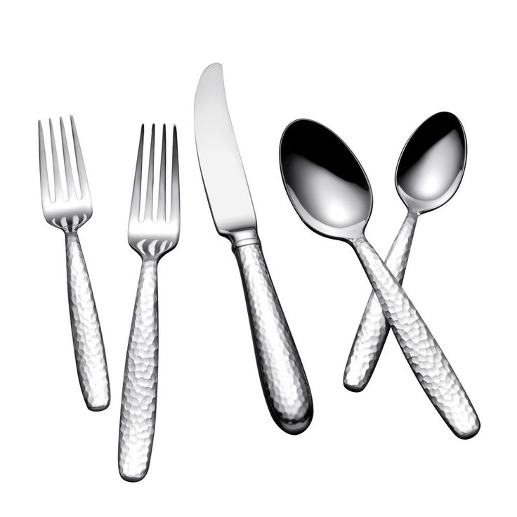 Summersby 45-Piece Satin Silver Stainless Steel Flatware Set Service for 8