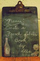Chalk board clip board. Could be cute for posting the day's dinner