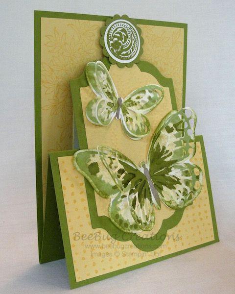 Watercolor Wings Easel Card   BeeBug Creations