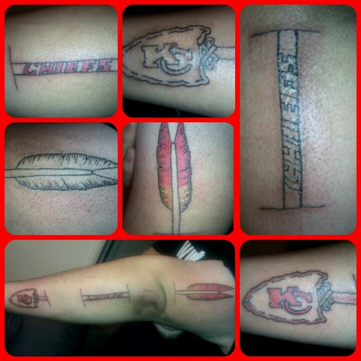 27 best images about kansas city chiefs tattoos on for Tattoo parlors in kansas city