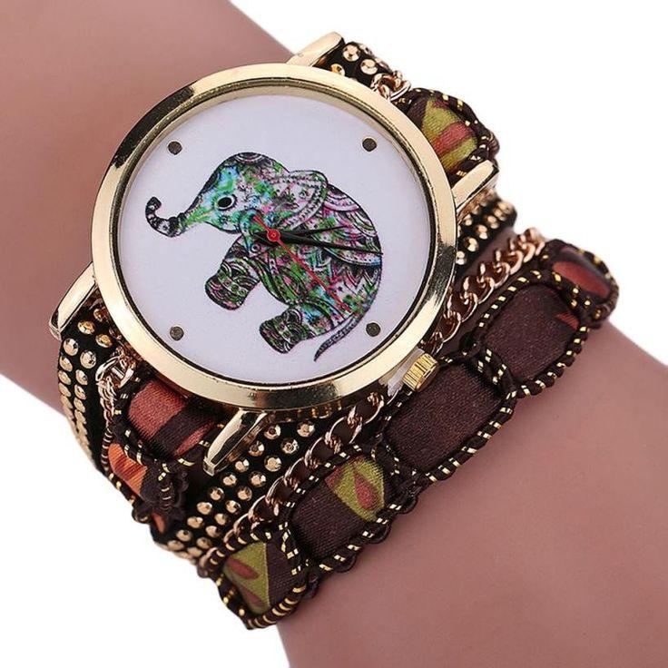 famous designers women fashion Rhinestone Elephant Pattern Quartz watch women Bracelet bayan watches kol saati #Y5