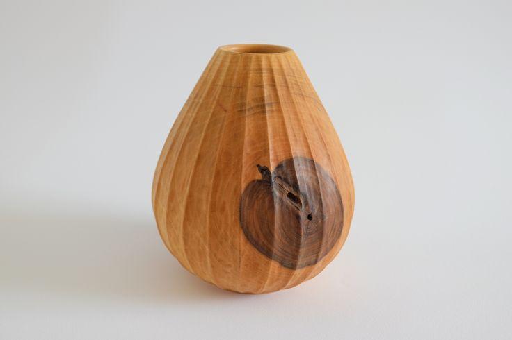 """An apple in a walnut vessel, hand made in Monferrato, Italy. Follow """"Davide Bisio Tornitura artistica del legno"""" on Facebook! ;)"""