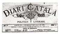 Primer número del 'Diari Català' publicado el 4 de mayo de 1879. Primer diario publicado en lengua catalana. Arxiu Històric de la Ciutat - Barcelona. La lengua catalana alcanza de nuevo la dimensión pública y no solo en la comunicación en el ámbito privado y rural.#renaixença #sigloXIX #Catalunya #lengua catalana
