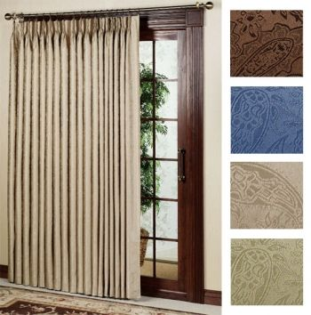 Gabrielle Pinch Pleat Patio Panel |This Thermal Room Darkening Patio Panel  Curtain Has A Subtle