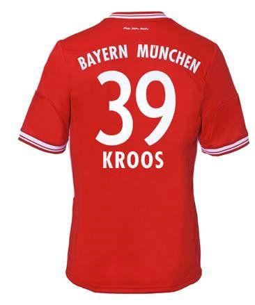 Maillot de Foot Bayern Munich (39 Kroos) Domicile Adidas Collection 2013 2014 rouge Pas Cher http://www.korsel.net/maillot-de-foot-bayern-munich-39-kroos-domicile-adidas-collection-2013-2014-rouge-pas-cher-p-2410.html