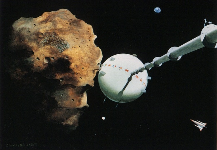 MINERS OF ASTEROIDS Chesley Bonestell