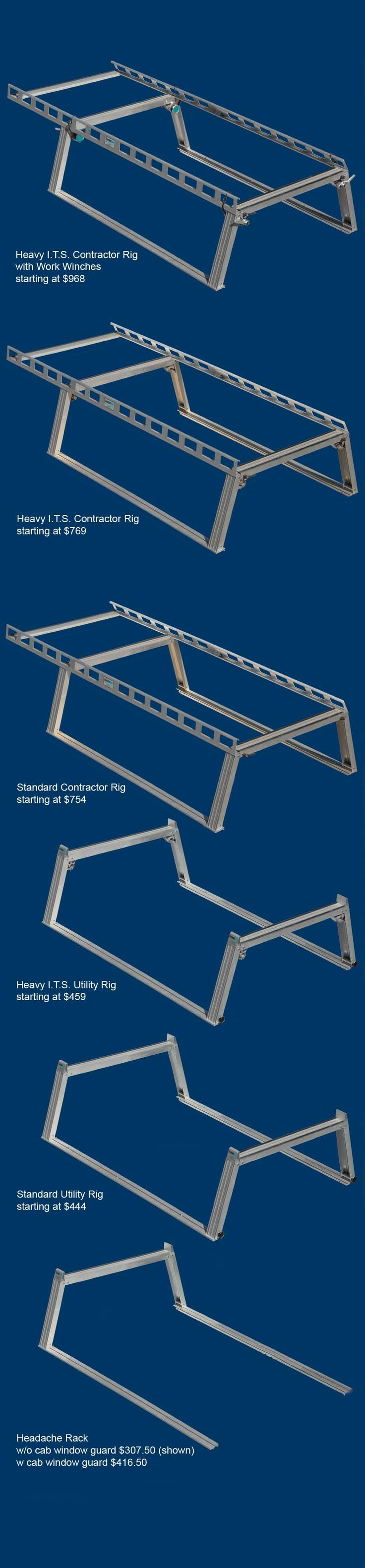 Service body / utility body ladder racks / truck racks overview