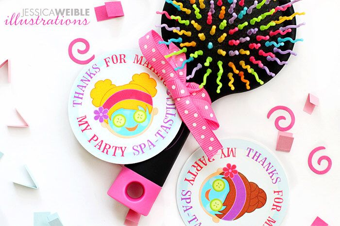 Girls Spa Party Printable Party Favor Tags, Printable Spa Party Favors, Spa Party Favor Circle Tags, Thanks for making my party Spa-Tastic by jessicasprints on Etsy https://www.etsy.com/listing/247684079/girls-spa-party-printable-party-favor