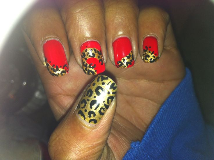 Red & Leopard Print
