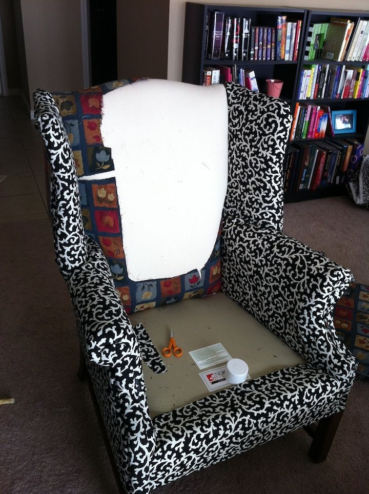 how to reupholster furniture diy.....pretty good step by step tips. very simple no sew version