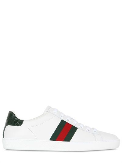GUCCI - NEW ACE LEATHER SNEAKERS - LUISAVIAROMA - LUXURY SHOPPING WORLDWIDE SHIPPING - FLORENCE