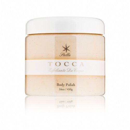 Tocca Beauty Esfoliante Da Corpo Body Polish 16 oz. by Tocca. $54.00. Luxurious texture and scent. Ideal for all skin types. Skin feels incredibly smooth and soft. Refines and renews skin. Features blood orange scent. Tocca Beauty Esfoliante Da Corpo Body Polish produces silky-soft skin, with gentle crushed olive granules and conditioning oils. The exfoliating granules buff away impurities and dead skin, revealing renewed, radiant skin. Italian olive, safflower and grape...