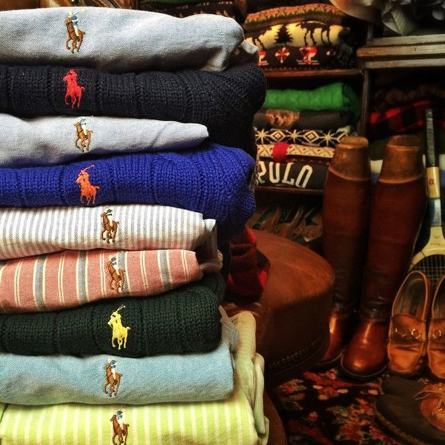 """So much Polo, my closet's a stable @RalphLauren"" #Prep #Preppy"