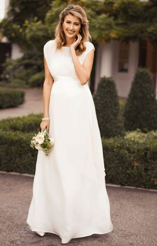 Maya Maternity Wedding Gown Long Ivory by Tiffany Rose