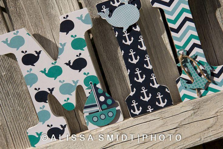 Custom Nursery Wooden Letters Baby Boy or by WanderlustbyAlissa, $16.00