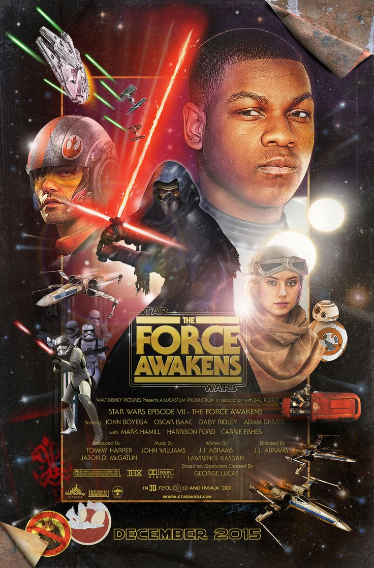 Star Wars Episode VII The Force Awakens poster artwork by Love Carmichael