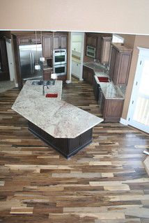 Awesome Multi Tone Flooring Replace The Light Pieces With Pine Color
