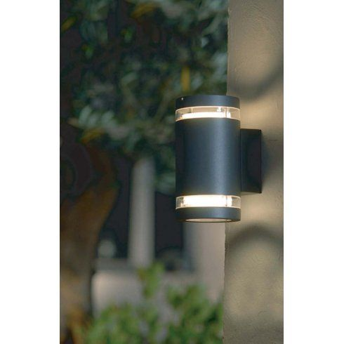 Elstead Lighting Lutec Focus Low Energy Cylindrical Up And Down Wall Fitting In Graphite Grey