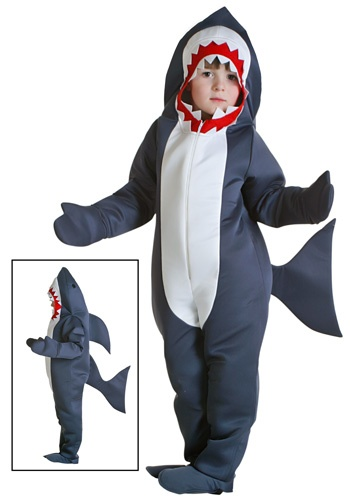 Toddler Shark costume .. this is out of stock, but it's exactly what J wants. So, looks like I will be sewing