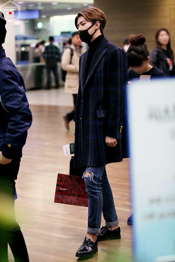 141202- EXO Oh Sehun; Incheon Airport to Hongkong Airport #exok #fashion