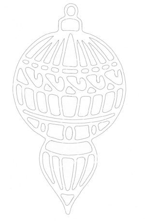 Christmas ornament. Free paper cutting template.
