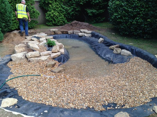 Wildlife Pond in Esher, Surrey by Claudia de Yong Designs Repin by www.watersidenursery.co.uk #water #garden #wildlifepond