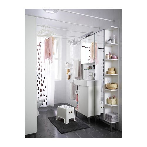 Lill ngen mirror cabinet 1 door 1 end unit white white 19 for Bathroom ideas 8x8