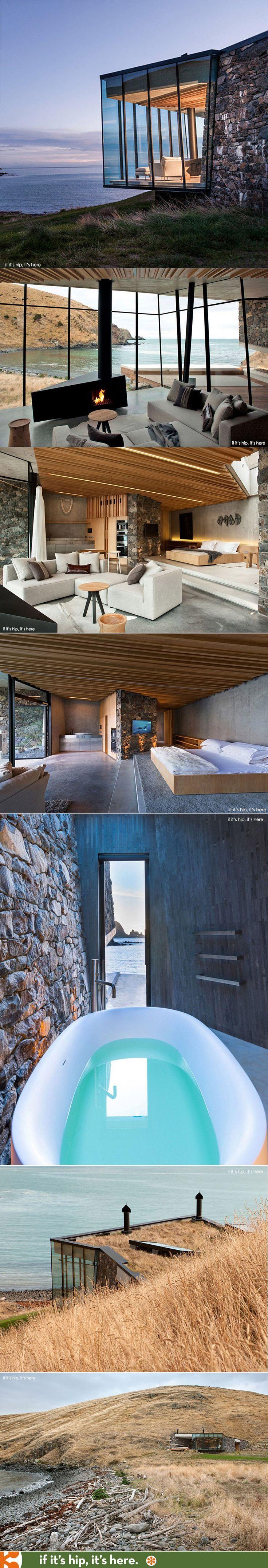 Espacio Habitable en Nueva Zelanda, estilo moderno contemporáneo http://www.ifitshipitshere.com/seascape-retreat-in-new-zealand/