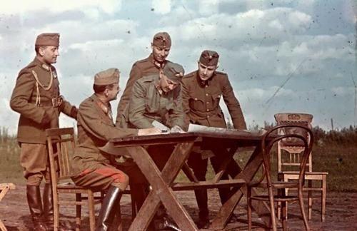 Hungarian officers Ukraina 1942.