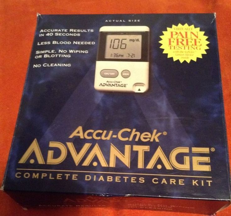 Accu-Chek Advantage Blood Glucose Monitor Diabetes Care Kit Sugar Testing