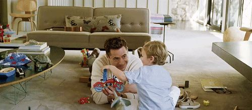 Robert Downey Jr and his son, Exton, for Vanity Fair behind the scenes