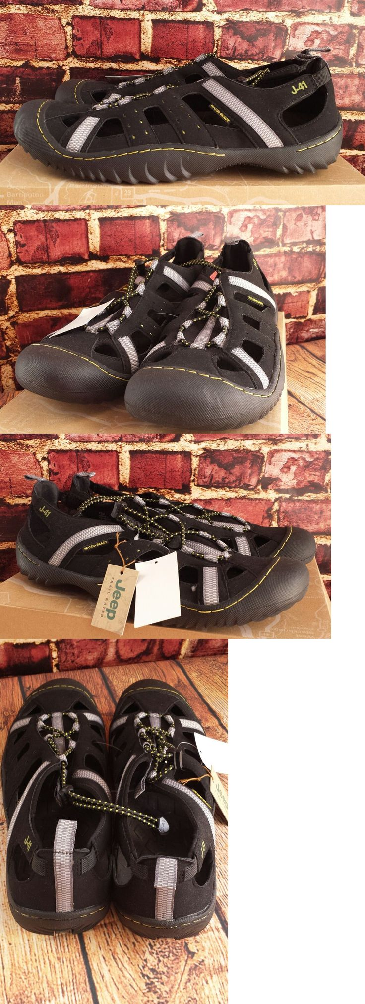 Men 159144: J-41 Jeep Trail Rated Groove Ii Black Kiwi Sport Sandals Water Shoes Size 12 -> BUY IT NOW ONLY: $44.95 on eBay!