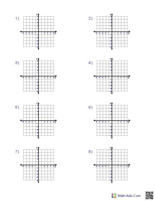 Four Quadrant 5x5 Grid Size Graph Paper