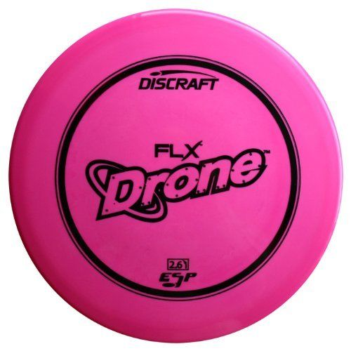 ESP FLX Drone 174-178g by Discraft. $13.95. Disc golfers in windier places love the Drone like no other midrange for its ability to fight any headwind and not turn over. Very overstable, best for advanced players and forehand approaches. Please contact us by email for more specific weight or color requests.