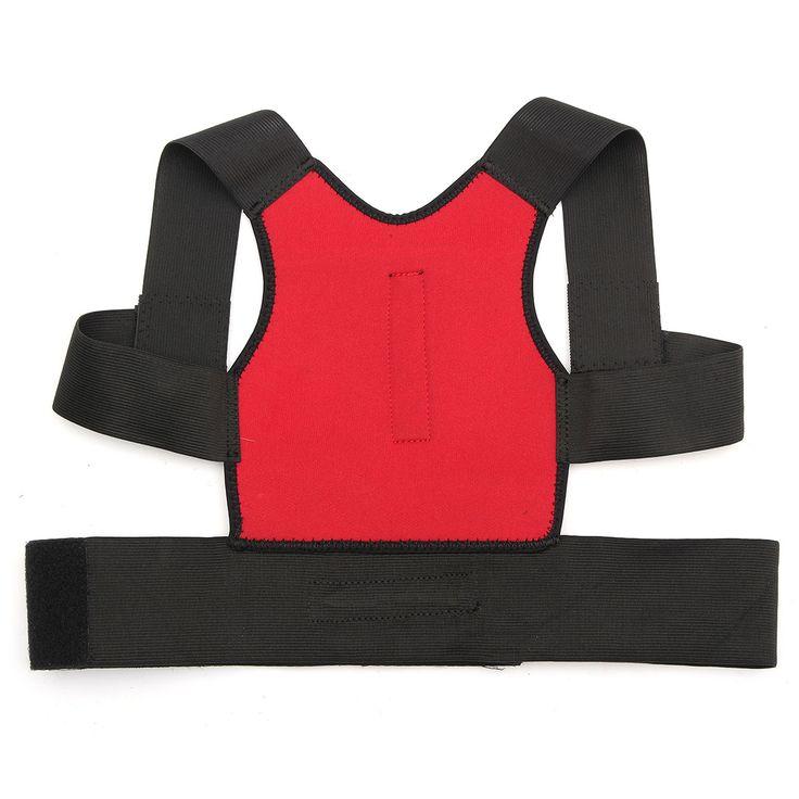 Unisex supporto postura correzione correttore lombare della cinghia da spalla indietro