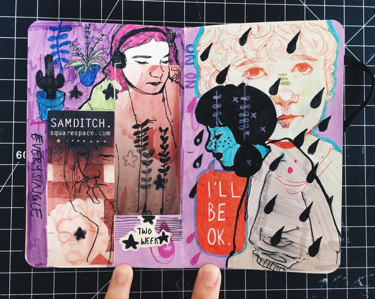 Draw your imagined self   Art Journal Inspiration