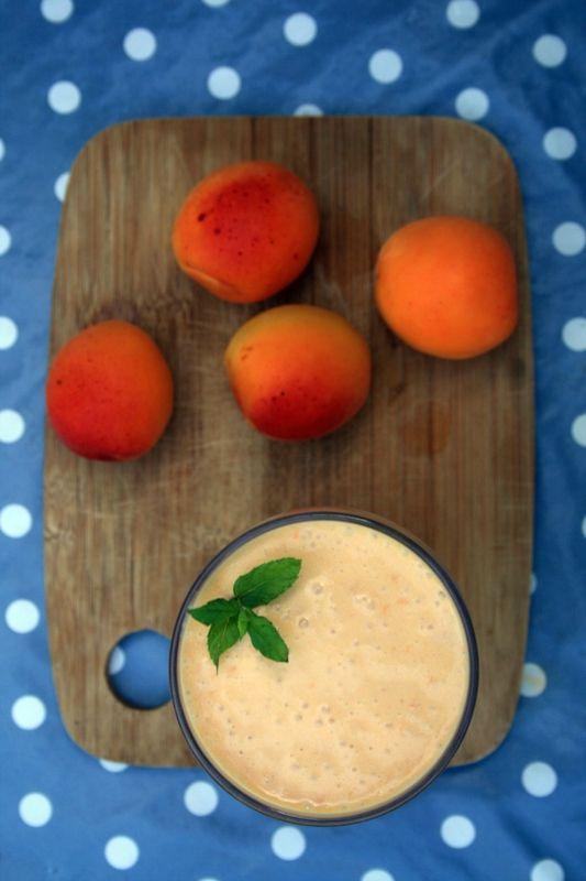 Smoothie lait de coco - abricots belettecuisine