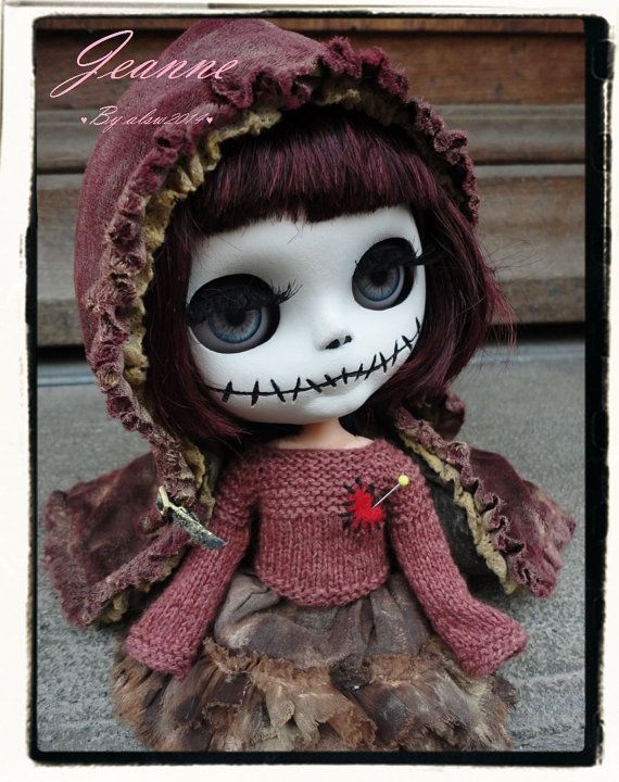 JEANNE and MARIUS Ooak Custom Blythe Art Doll