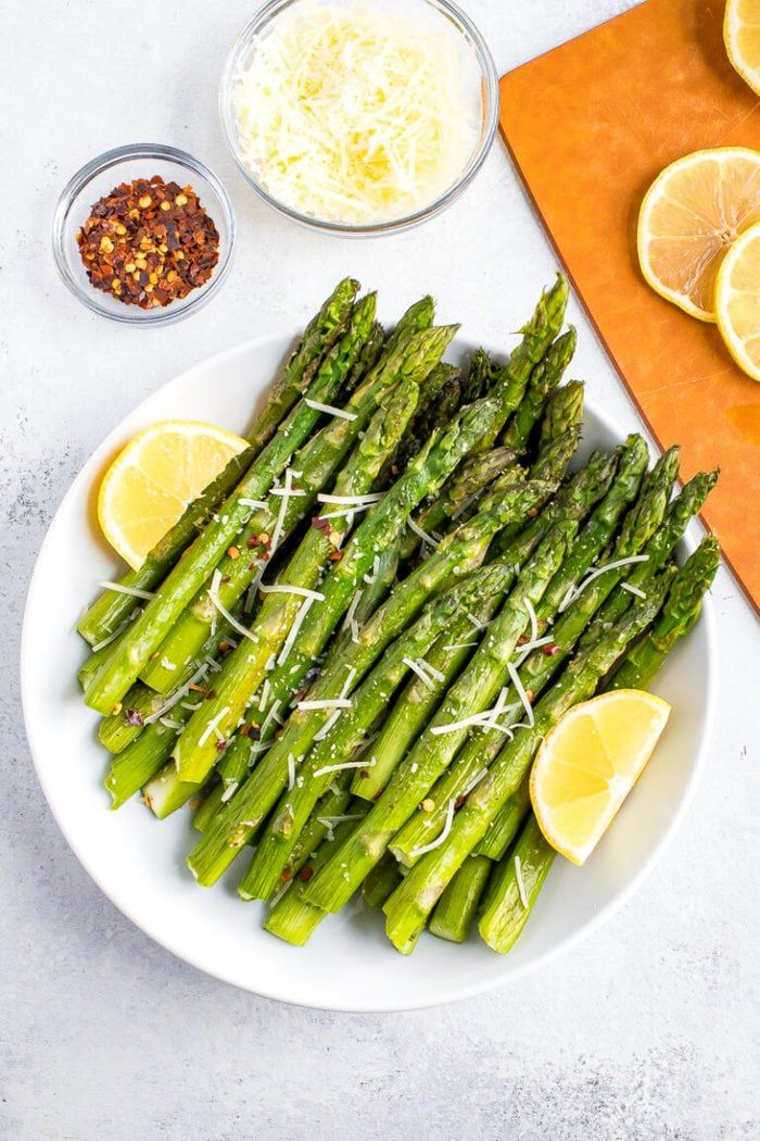 Roasted Asparagus 3 Topping Ideas Eating Bird Food Recipe Asparagus Recipes Healthy Healthy Side Dishes Healthy Recipes