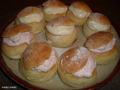 Vastlakuklid: Estonian lenten buns-these are great! We have them every February for sledding day.