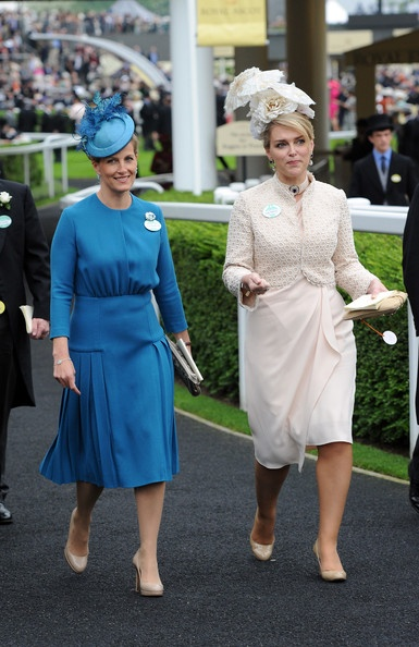 Sophie Countess Wessex Sophie Countess Wessex (L) attends Day 1 of Royal Ascot at Ascot Racecourse on June 18, 2013 in Ascot, England.