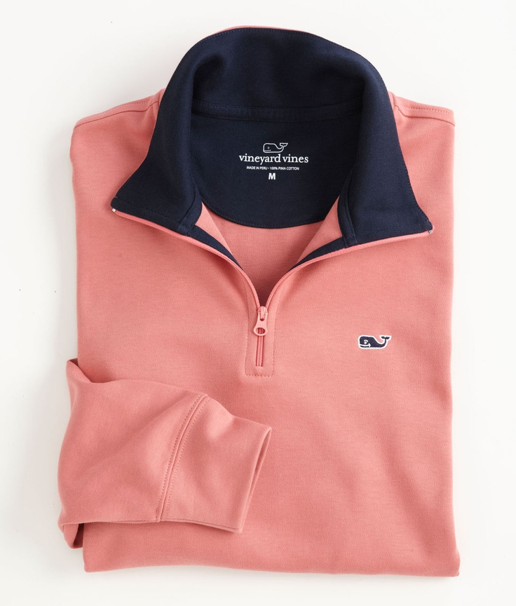 Vineyard Vines Jersey 1/4-Zip // dark blue skinnies + rain boots