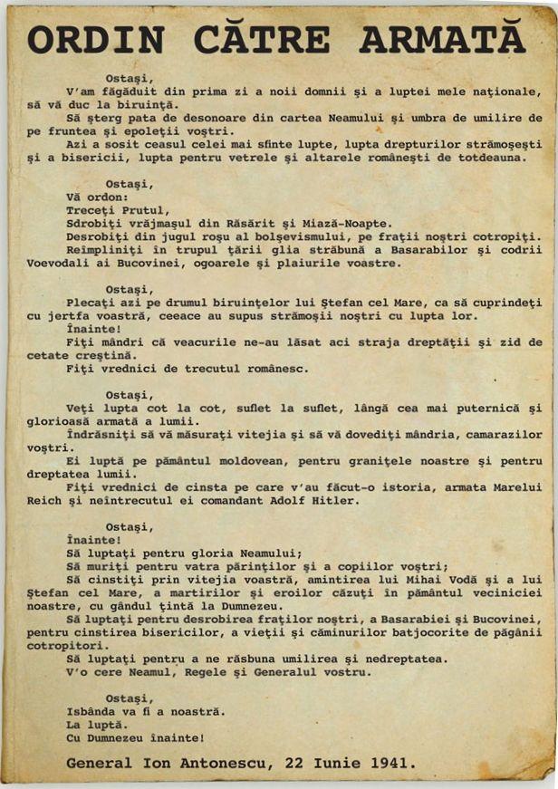 1941 Ordin catre Armata