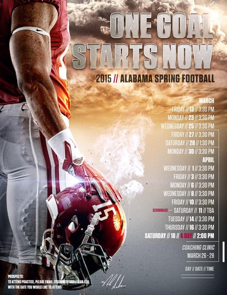 """Spring Football is right around the corner. #RollTide"""