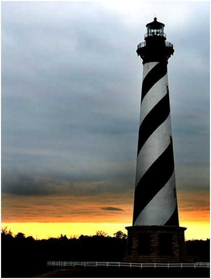 Cape hatteras light, USA    Around 1.25 million bricks were used to build the tallest lighthouse in America, a huge structure which lights up every 7 seconds to assist ships through the 'graveyard of the Atlantic, the diamond shoals. On clear days it has been visible from 50 miles.