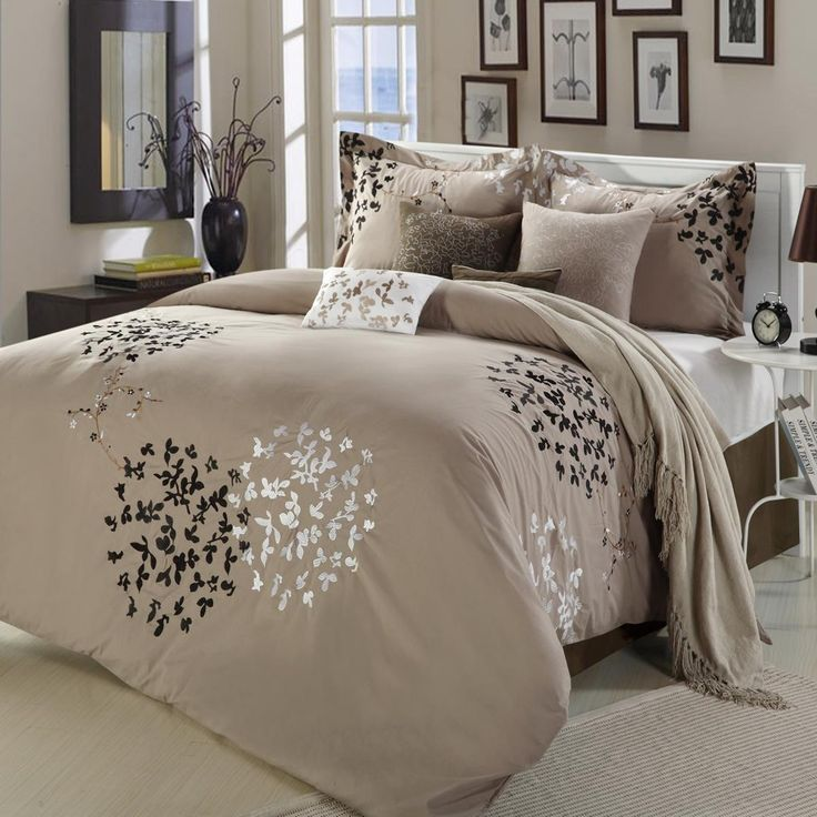 1000 Ideas About Taupe Bedding On Pinterest Coral And
