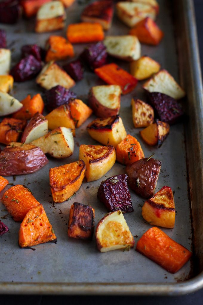 Roasted Root Vegetables Recipe with Rosemary.