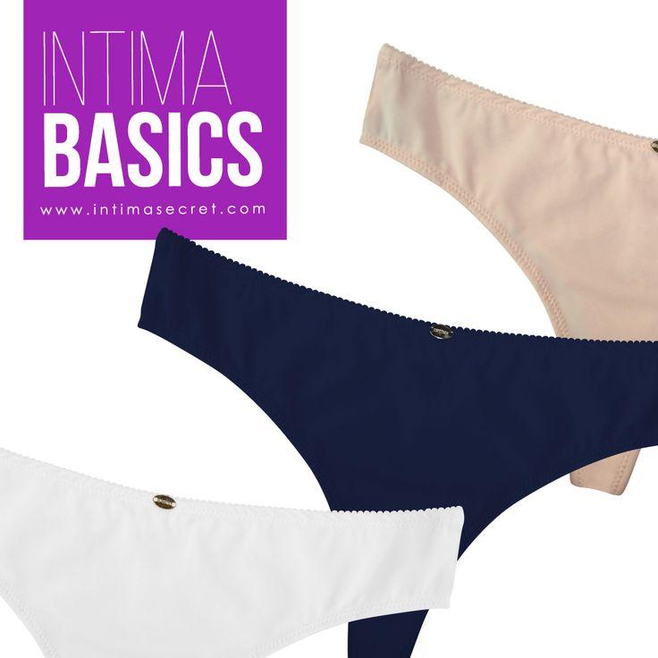 ¿Te encantan los panties sencillos? Acércate a nuestros almacenes y pregunta por la linea Intima Basics. Panties de material suave, no se marca en tu piel ni en tu ropa, hechos  De Corazón.